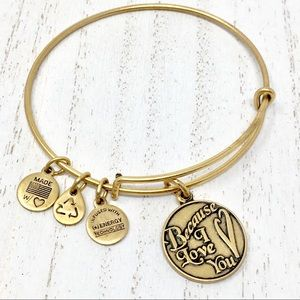 NEW ALEX AND ANI NWOT Because I Love You Bangle